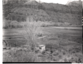 Albert E. Jones property, east of Virgin River, south of park boundary. ; ZION Museum and Archives Image 103 01 001 ; ZION 8320 (5dd932a17fee4b04890752f3d9955c37).tif