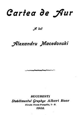 Alexandru Macedonski - First page of Cartea de aur, 1902
