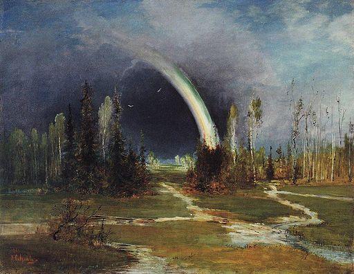 Alexey Savrasov Landscape with a Rainbow