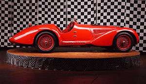 Mille Miglia - The Alfa Romeo 8C 2900B MM that won the 1938 Mille Miglia driven by Clemente Biondetti. Simeone Foundation Automotive Museum, Philadelphia, USA.
