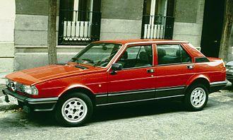 Alfa Romeo Giulietta (116) - Image: Alfa Romeo Giulietta 1984