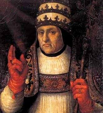 Pope Callixtus III - Image: Alfonso de Borja, obispo de Valencia y papa Calixto III (cropped)