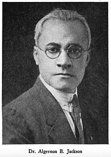 Algernon B. Jackson African American physician who contributed to the National Negro Health Movement