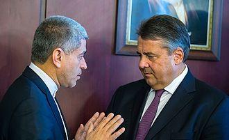 Ali Tayebnia - Tayebnia and German Vice Chancellor and Economic Minister Sigmar Gabriel in Tehran, 3 October 2016