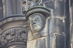 Allan Ramsay as depicted on the Scott Monument.JPG