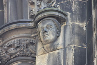Allan Ramsay (poet) - Allan Ramsay as depicted on the Scott Monument