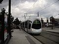 Alstom Citadis 302 - Tramway de Lyon - Ligne T4 - Station Gare de Vénissieux.JPG
