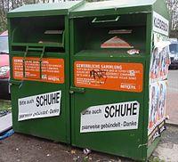 Altkleider-Container, Retextil Recycling International, Farbe: dunkelgrün