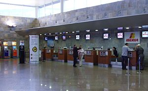 A Coruña Airport - Check-in counters