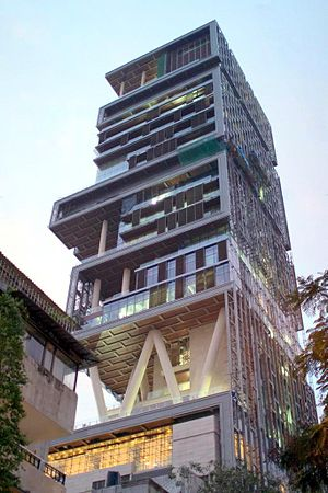 Altamount Road - Antilia as seen from Altamount Road
