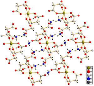 Ammonium ferric citrate - Image: Ammonium ferric citrate dihydrate structure