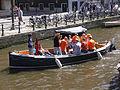 Amsterdam - Koninginnedag 2012 - Boat on Oudezijds voorburgwal.JPG