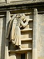 An angel on the way up, Bath Abbey west elevation - geograph.org.uk - 717346.jpg
