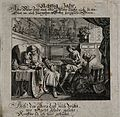 An old man dozing in a chair; representing the eightieth yea Wellcome V0007601.jpg