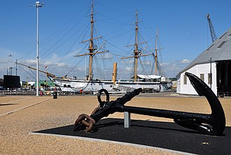 Chatham Dockyard - HMS Gannet at Chatham Dockyard