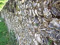 Ancient flint wall at St Peter's Churchyard - geograph.org.uk - 423036.jpg