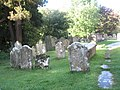 Ancient gravestones in the churchyard at St Mary, Buriton - geograph.org.uk - 1532119.jpg