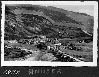 Andeer - Andeer from a 1932 photograph