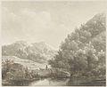 Andreas Schelfhout - Berglandschap met beekje, herder en schapen.jpg