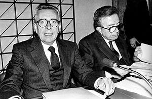 Arnaldo Forlani - Arnaldo Forlani with Giulio Andreotti.