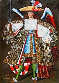 Ángel Letiel Dei (copia del original), pintura de Melchor Pérez de Holguín