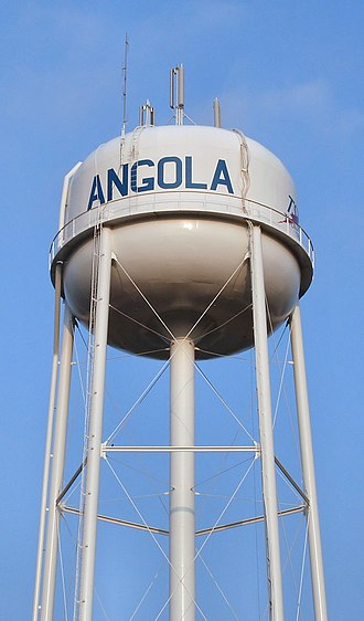 Angola, Indiana - Angola's water tower.