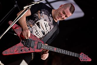 Annihilator (band) - Singer and guitarist Jeff Waters, who formed Annihilator in 1984, at Rockharz Open Air 2016 in Germany