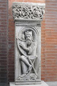 Anonyme Le Roi David accordant sa harpe (ME 80).jpg