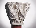 Anonyme toulousain - Chapiteau de colonne simple , Lions dans des lianes - Musée des Augustins - ME 223 (3).jpg