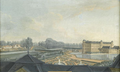 Anonymous painting of the Château de Chantilly in circa 1775 showing the park.png