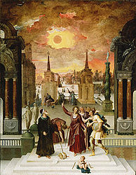 Antoine Caron: Dionysius the Areopagite Converting the Pagan Philosophers