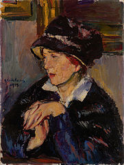 Woman with a Dark Hat