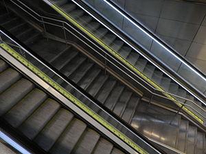 "Antoni Abad - Abad's installation, ""Mesures d'emergència"" (Emergency Measures, 2010) in the Barcelona metro's Vall d'Hebron station."