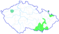 Apodemus uralensis CZ distribution map.png
