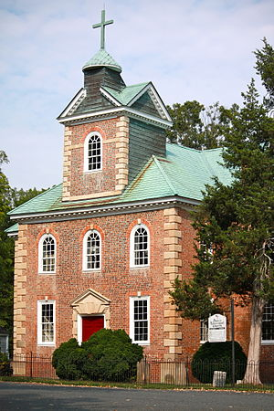 National Register of Historic Places listings in Stafford County, Virginia - Image: Aquia Church