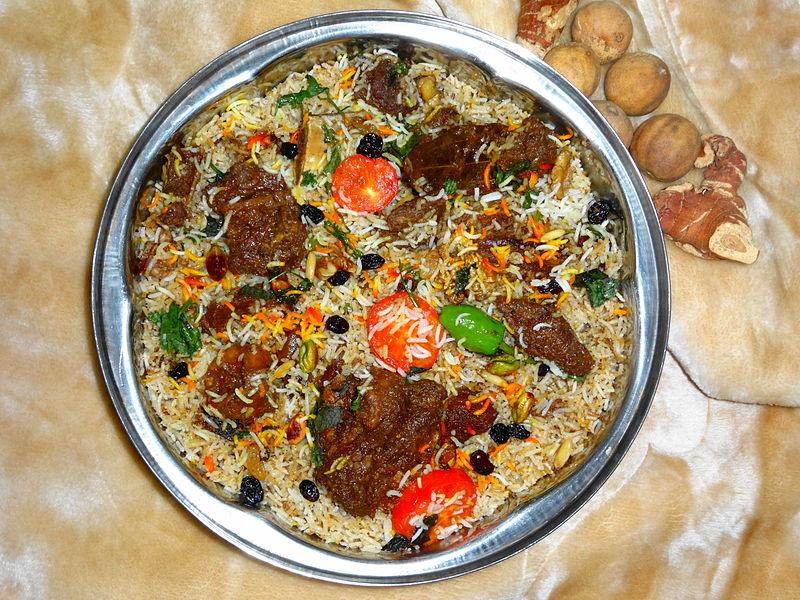File:Arabian Camel Meat Biryani.JPG
