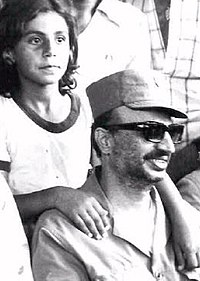 Arafat in Palestinian refugee camp in Southern Lebanon in 1978