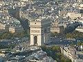 Arc de Triomphe as seen from the Eiffel Tower - 20110924.jpg