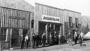 Eldora, Colorado - The Arcade Saloon in 1898 Eldora Colorado.