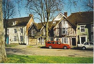 Horsham town in West Sussex, England