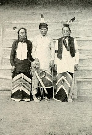 Arikara Indian scouts in the U.S. Army. From left it is Red Star, Boy Chief and Red Bear.jpg