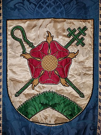 Red Rose of Lancaster - Arms of the Anglo-Catholic Church of the Good Shepherd (Rosemont, Pennsylvania), including the Red Rose of Lancaster