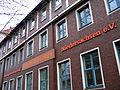 Arndtstraße 20 Hannover-Mitte Schriftzug Bildungsvereinigung ARBEIT UND LEBEN Niedersachsen e.V. am Gebäude der ehemaligen Eisen-Aktiengesellschaft Heinrich August Schulte HAS.jpg