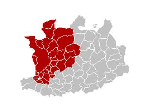 Arrondissement of Antwerp - Image: Arr Antwerpen Locatie