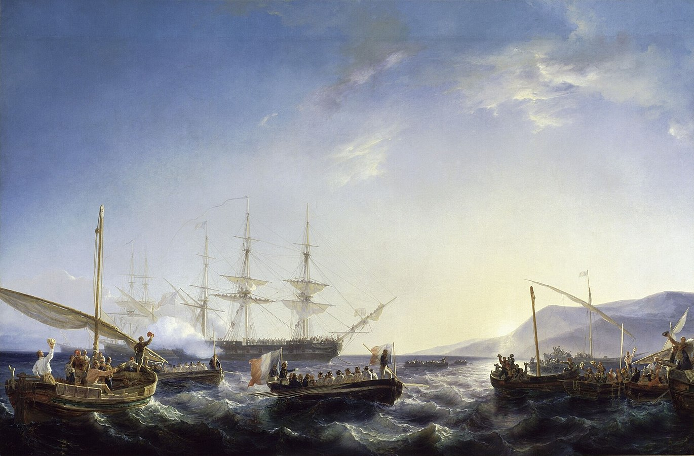 Bonaparte arriving in France back from Egypt on 9 October 1799
