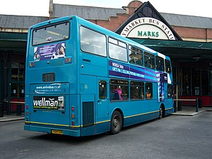 East Lancs Myllennium Lowlander - Arriva North East East Lancs Myllennium Lowlander rear in Newcastle in May 2009