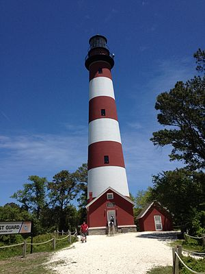 National Register of Historic Places listings in Accomack County, Virginia - Image: Assateague Light May 2015