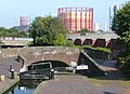 Aston Lock No 14 and Bridge 15, Birmingham and Fazeley Canal - geograph.org.uk - 994216.jpg