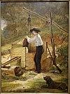 У колодца. Автор Уильям Сидни Маунт, 1848, масло на доске, смонтировано на панели - Музей американского искусства Новой Британии - DSC09323.JPG