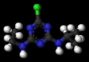 Atrazine - Image: Atrazine 3D balls